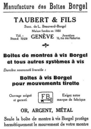 Taubert & Fils Advertisement