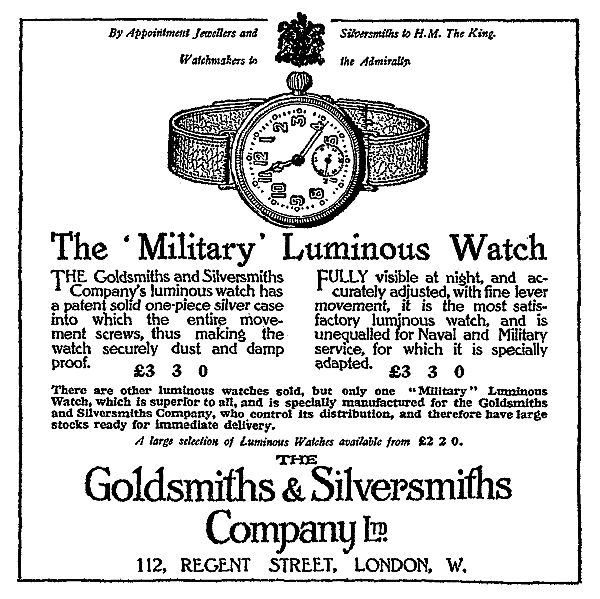 Goldsmiths' advert 1915