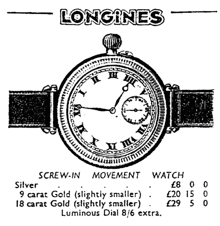 Longines Catalogue 1939