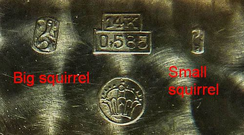 Swiss hallmarks and other marks found in watch cases