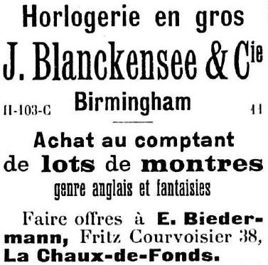 Blanckensee advert April 1904