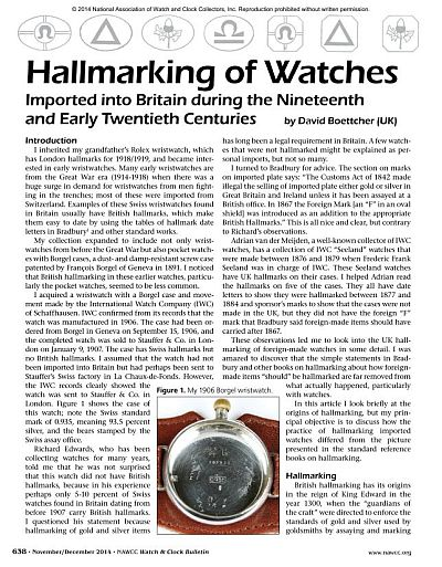 Marks in watch cases - hallmarks, sponsor's marks, etc