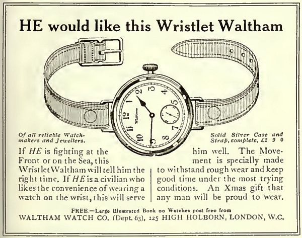 Waltham Advert 1914