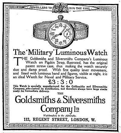 Goldsmiths Advert 1915
