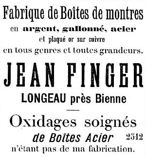 Jean Finger advert 1894