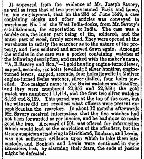 The Times, August 1845