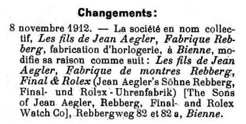 Aegler name change 1912