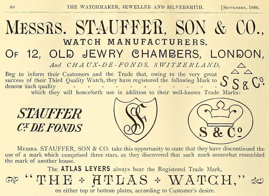 Stauffer advert September 1886