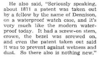 Dennison 1871 patent story