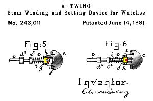 Twing 1881 US patent No. 243011