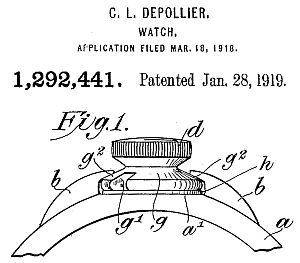 Charles Depollier US patent No. 1,292,441
