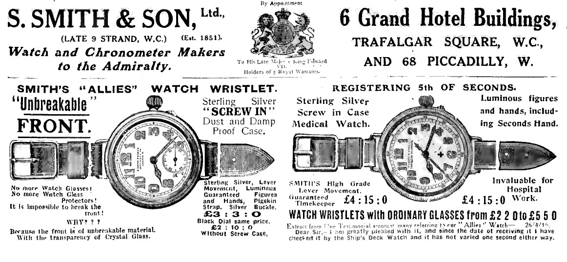 Smith and Son advert May 1916